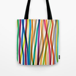 Colored Stripes Tote Bag