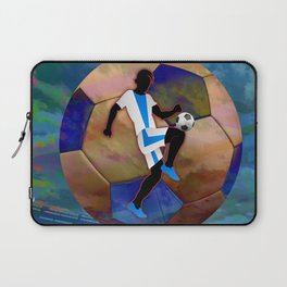 Soccer Player Silhouette Laptop Sleeve