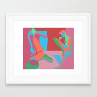nudes Framed Art Prints featuring three nudes by design lunatic