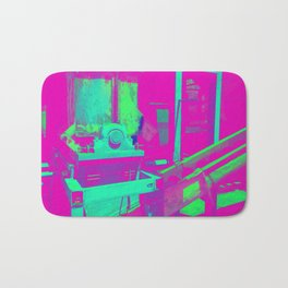 Industrial Abstract Purple Bath Mat