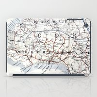 jamaica iPad Cases featuring Map Section: Jamaica by Shaunia McKenzie