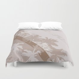 Palm Design - Beige and Brown Duvet Cover