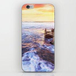 Lonas planet evening sea iPhone Skin