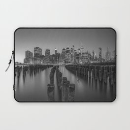 Brooklyn Waterfront in Black and White Laptop Sleeve