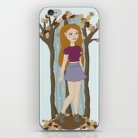 lydia martin iPhone & iPod Skins featuring Autumn Lydia by tashaliz