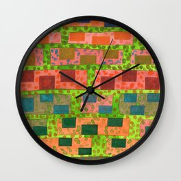 Added Color to a Colorful Wall Wall Clock
