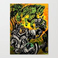 Doktor Steampug Versus Gorillizard! Canvas Print