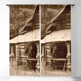 Old Log Cabin Blackout Curtain