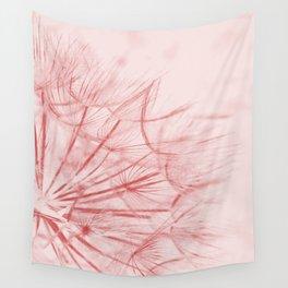Dandelion In Pink Wall Tapestry