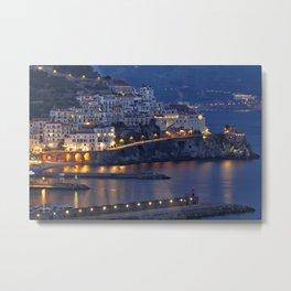 Amalfi Nightscape Metal Print