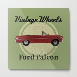 Vintage Wheels - Ford Falcon Metal Print