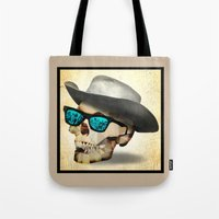 cowboy Tote Bags featuring Cowboy by robweissillustration.com
