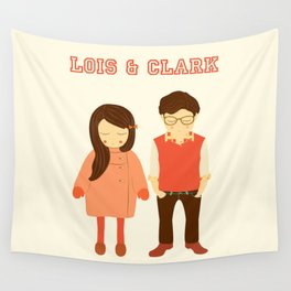 Lois and Clark - Superman The Younger Years - Comic Superhero Illustration Print Wall Tapestry