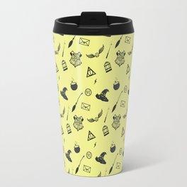 Hufflepuff Pattern Travel Mug