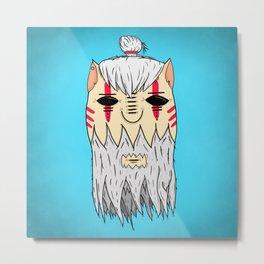 guru head Metal Print