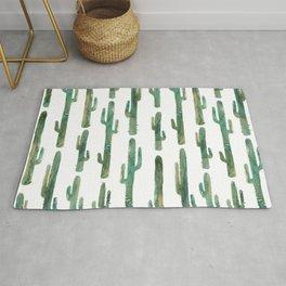 Green Cactus Pattern Rug