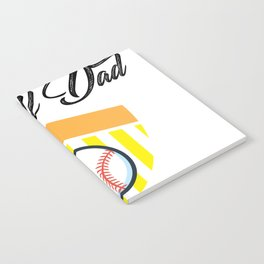 Softball And Dad For Men - Fathers Day Gifts Notebook