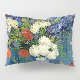 Vase With Cornflowers And Poppies Pillow Sham