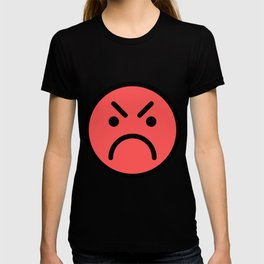 Smiley Face   Red Angry Face T-shirt