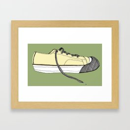 Sneaker in profile Framed Art Print