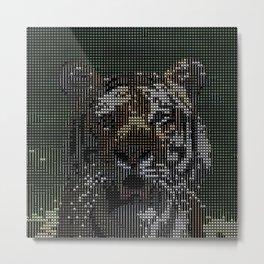 ASCII-Art Tiger Metal Print