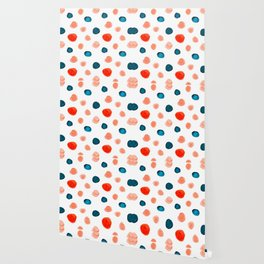 Blue and Orange Dots Wallpaper