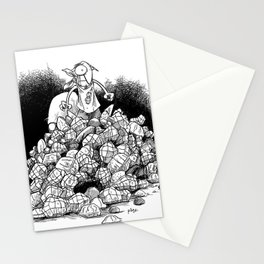 Bob the Squirrel atop Nut Mountain Stationery Cards