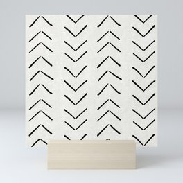 Mud Cloth Big Arrows in Cream Mini Art Print