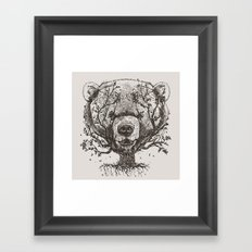 Bear n Tree Framed Art Print