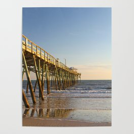 Into the Sea, Fishing Pier and Ocean Poster