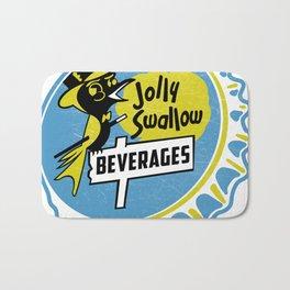 Vintage Jolly Swallow Beverages Soda Pop Bottle Cap Bath Mat