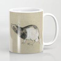 rat Mugs featuring Rat by Freeminds
