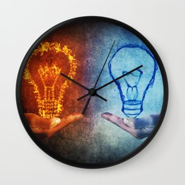 Fire vs Water Wall Clock