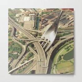Spaghetti Junction Metal Print