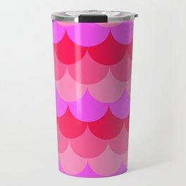 Scalloped Confetti in Neon Coral Reef Travel Mug