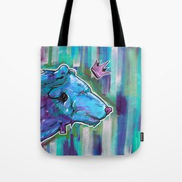 Blue Bear King Tote Bag