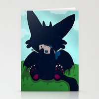 toothless Stationery Cards featuring Toothless by DaemonDeDevil