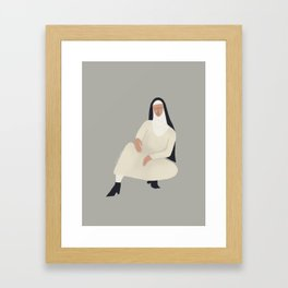 Spring Nun 4 Framed Art Print
