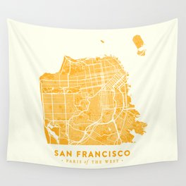 San Francisco City Map 03 Wall Tapestry
