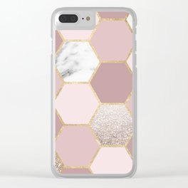 Sensations of the mind rose gold Clear iPhone Case