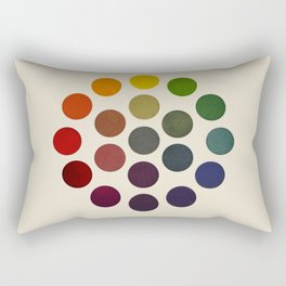 'Parsons' Spectrum Color Chart' 1912, Remake 2 (enhanced) Rectangular Pillow
