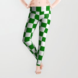 Small Checkered - White and Green Leggings