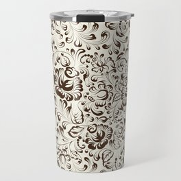 Floral seamless pattern in Gzhel style Travel Mug