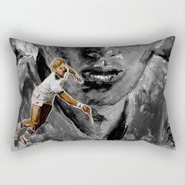 The young BORIS BECKER Rectangular Pillow