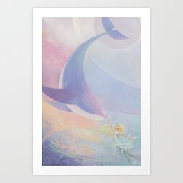 The Whale Constellation Art Print