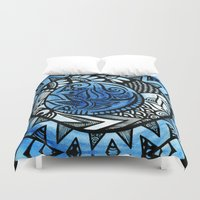 ice Duvet Covers featuring Ice by Wealie