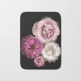 Purple, Pink, and White Roses Bath Mat