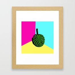 Block Colour monstera Framed Art Print