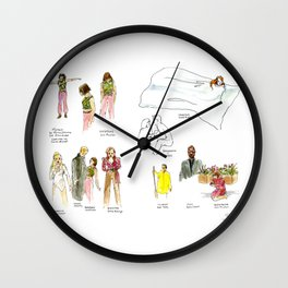 Live Sketches of Mythic dress rehearsal at Segal Centre - All Wall Clock