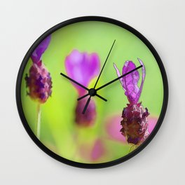 Lavender Bud Painting Wall Clock